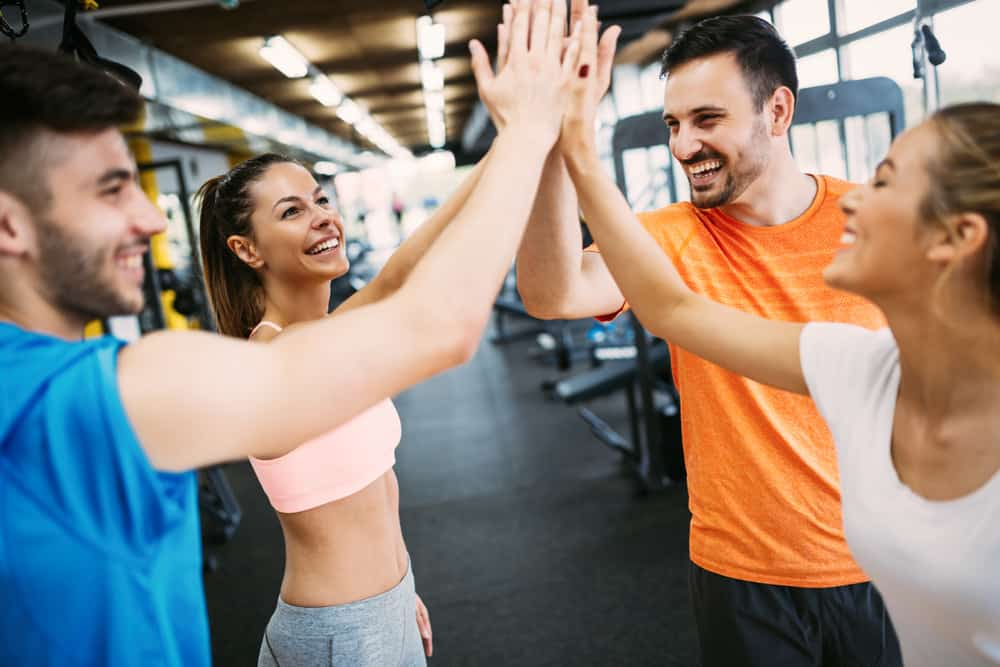 celebrate reaching fitness goals with friends